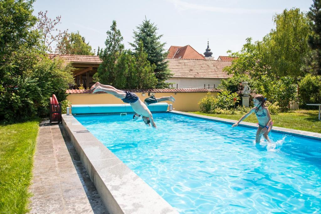 Der Swimmingpool an oder in der Nähe von Winzerhof Familie Bogner