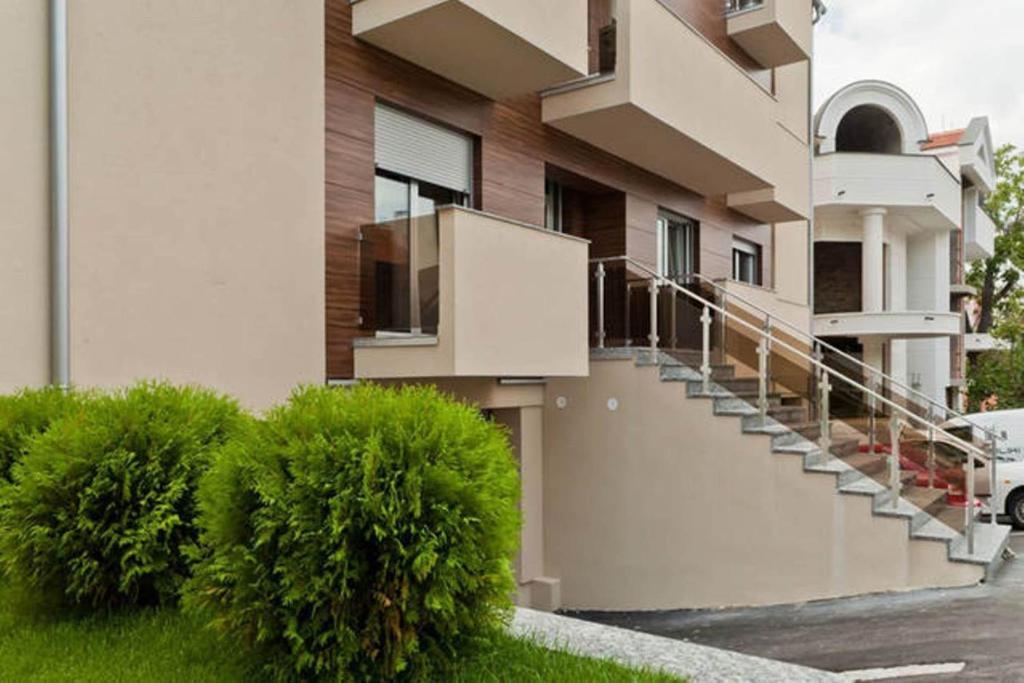 The facade or entrance of Lazic Apartment