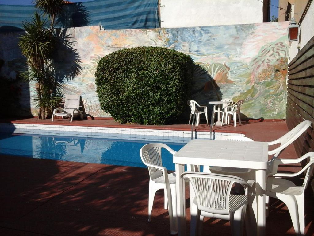 The lounge or bar area at Hotel Cordoba