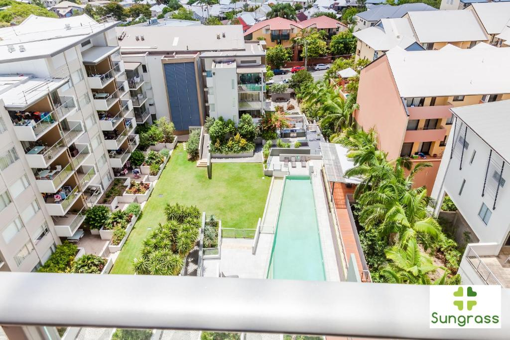 A bird's-eye view of Trilogy Residences Brisbane