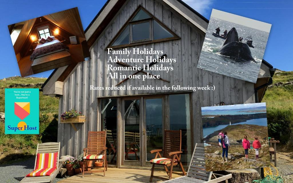 A porch or other outdoor area at Cedar Boathouse Overlookng Baltimore, West Cork & Islands