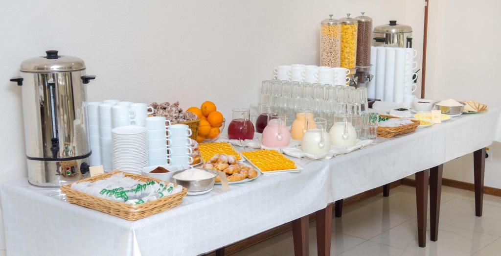 Coffee and tea-making facilities at Liberty Fly Hotel