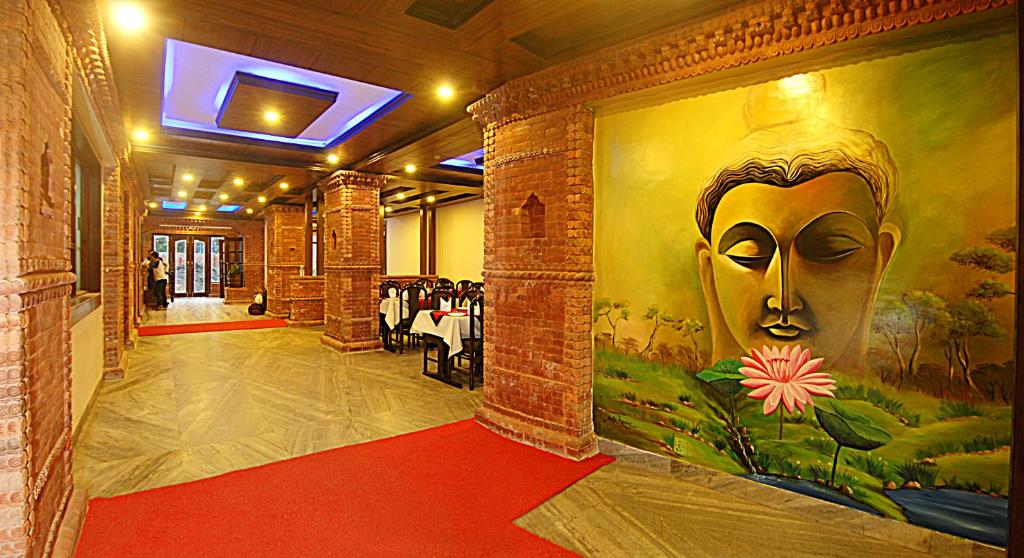 The lobby or reception area at Hotel Buddha