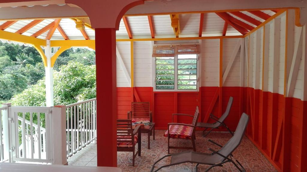 A porch or other outdoor area at Gîte Acélie