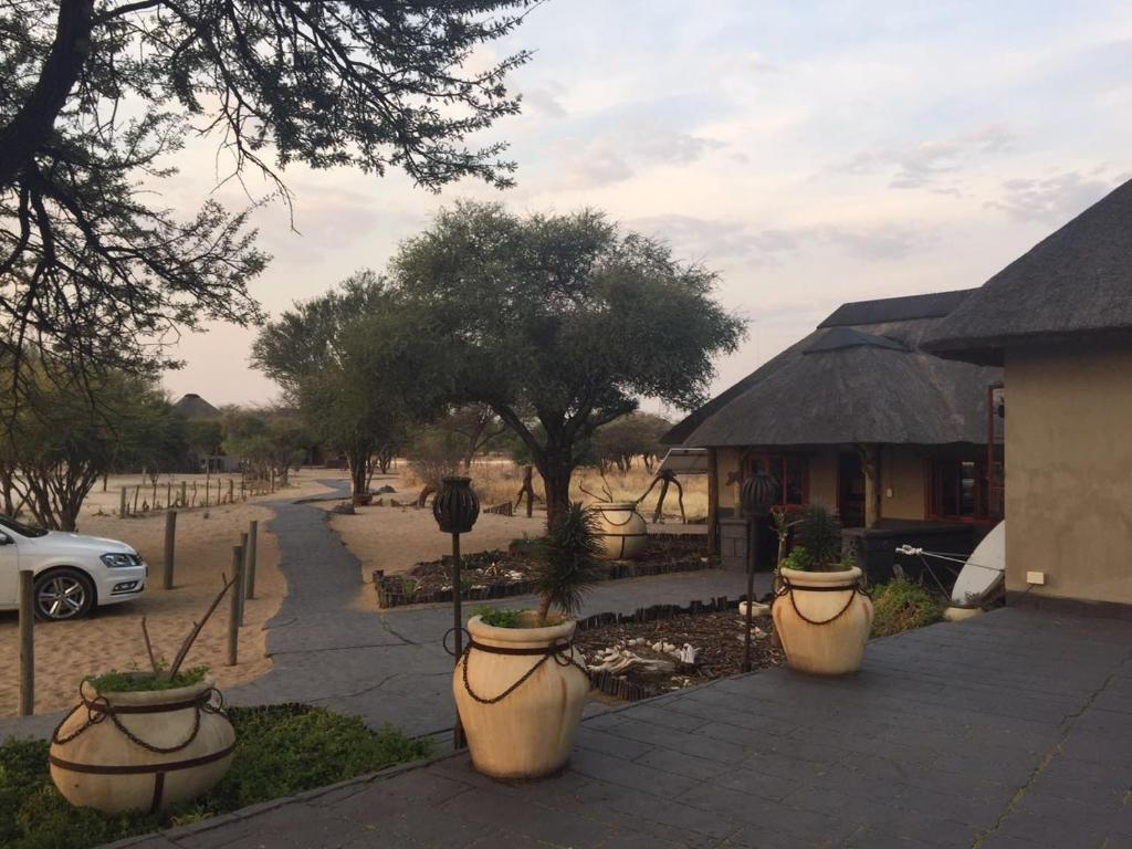 A porch or other outdoor area at Kalahari Rest Lodge