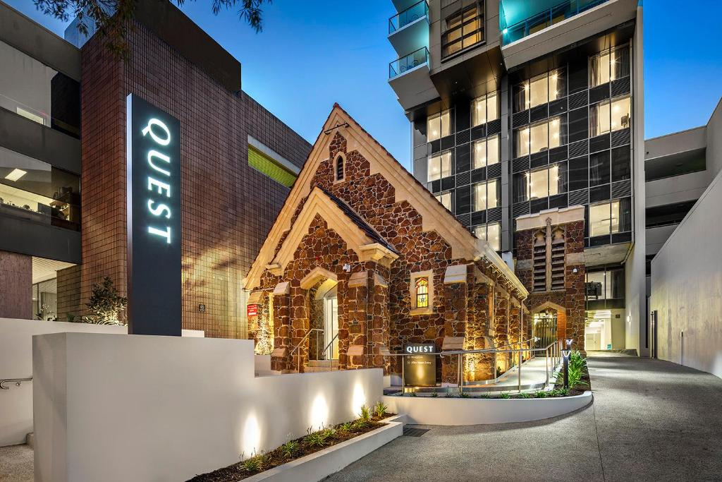 The facade or entrance of Quest East Perth