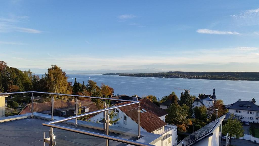Ein Balkon oder eine Terrasse in der Unterkunft ResidenzAmSee
