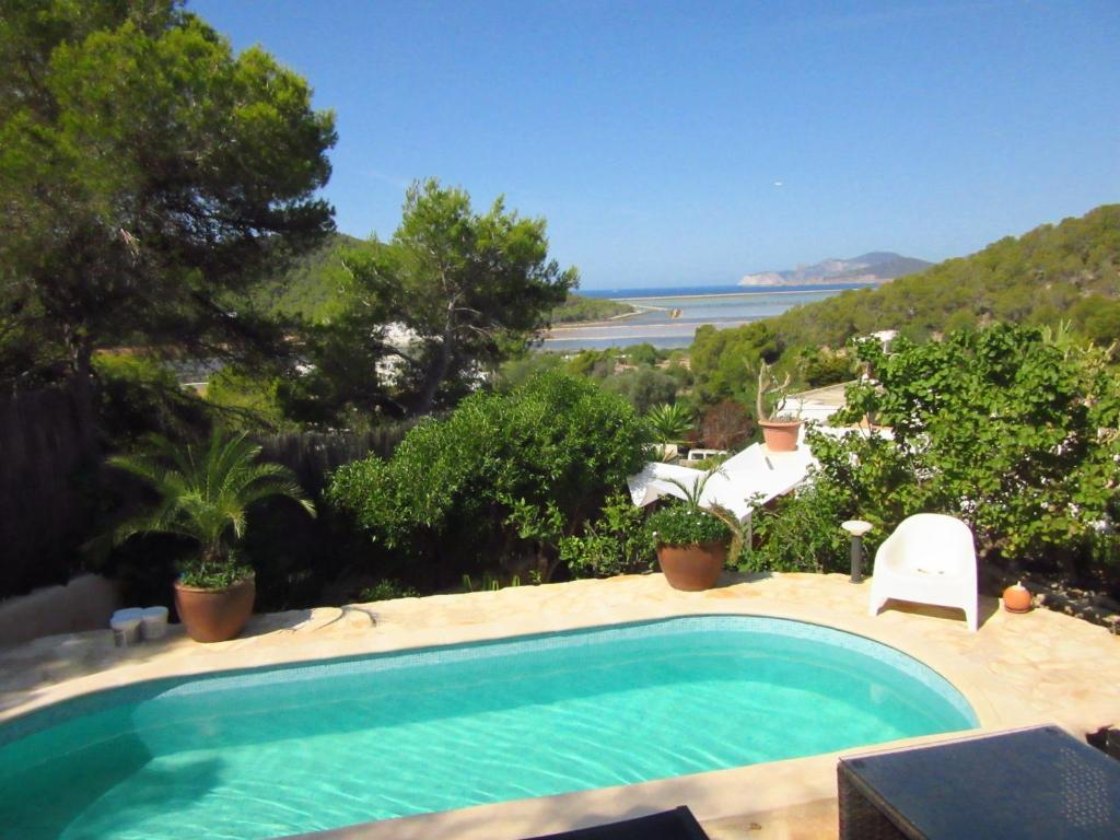 The swimming pool at or near Modern House near beach in Ses Salines Spain