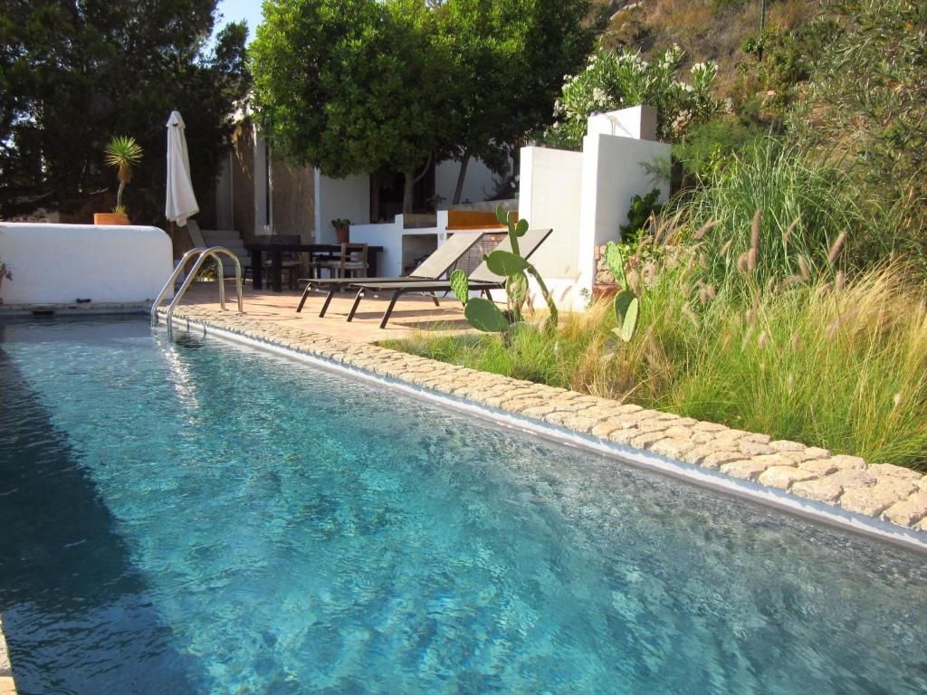 The swimming pool at or near Cozy Villa in Can Pep Simo with Swimming Pool