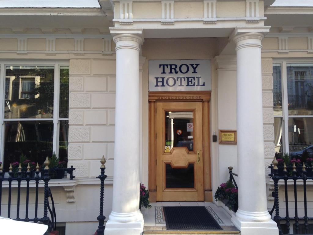 The facade or entrance of Troy Hotel