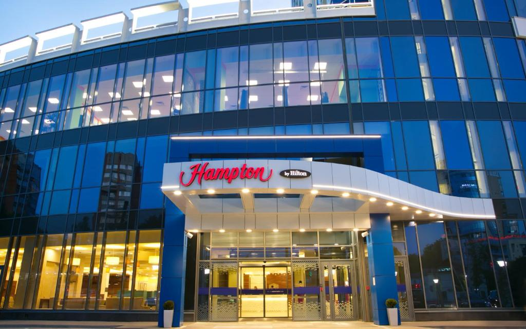 The facade or entrance of Hampton by Hilton Nizhny Novgorod
