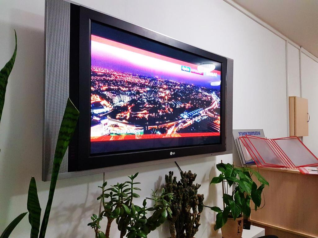 A television and/or entertainment center at Hostel Uyt in Kursk