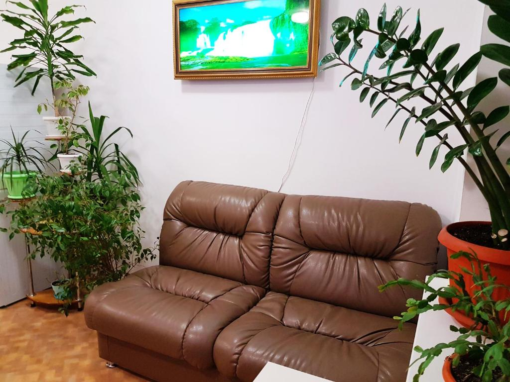 The lounge or bar area at Hostel Uyt in Kursk