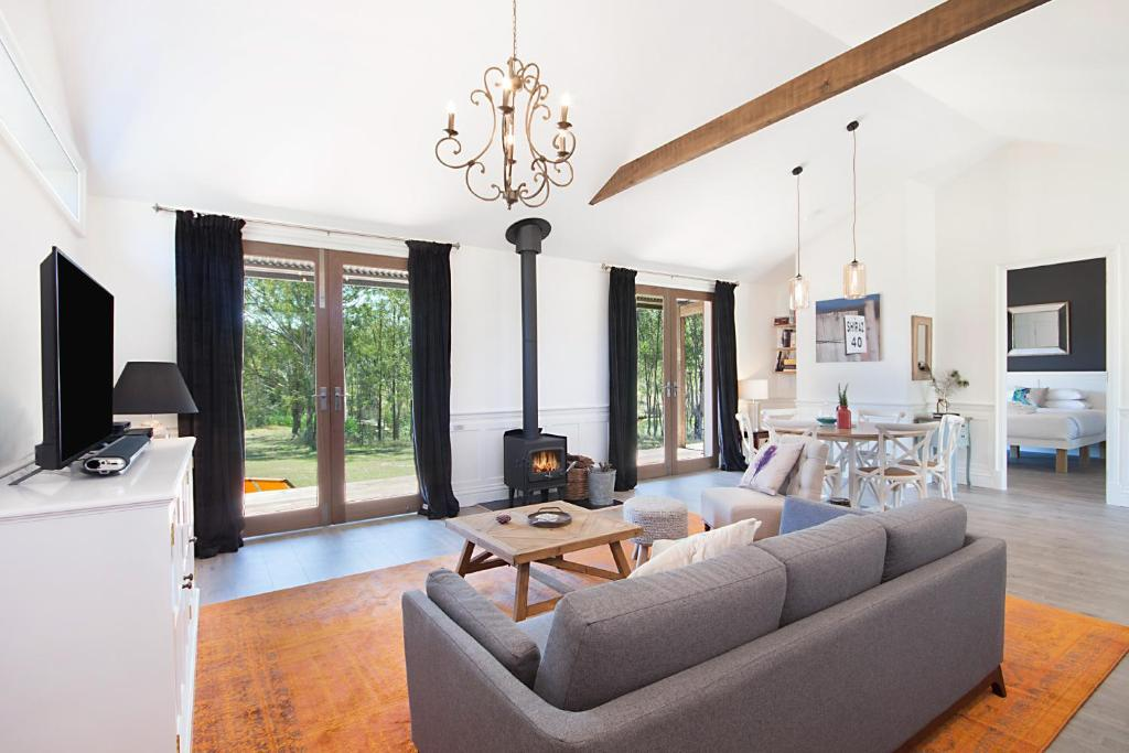 A seating area at Block Eight Hunter Valley
