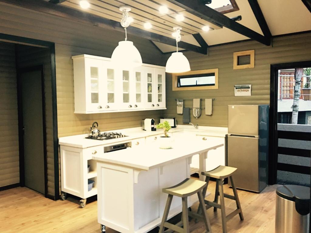 Una cocina o zona de cocina en Timmerstuga