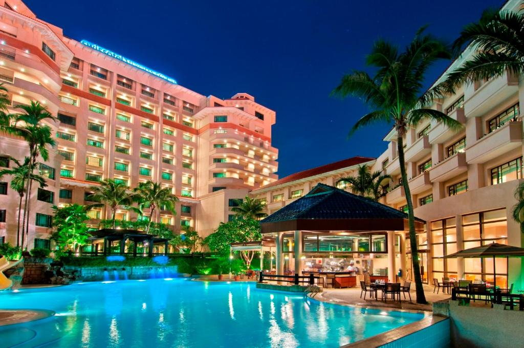 The swimming pool at or near Swissotel Merchant Court Singapore