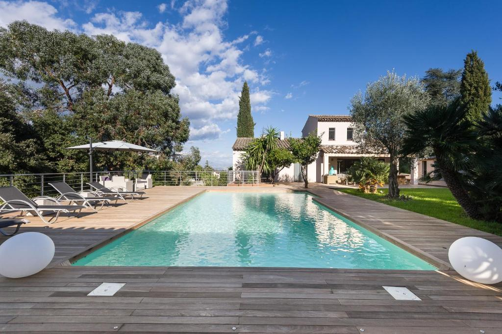 The swimming pool at or near Villa Super Cannes with Heated Pool