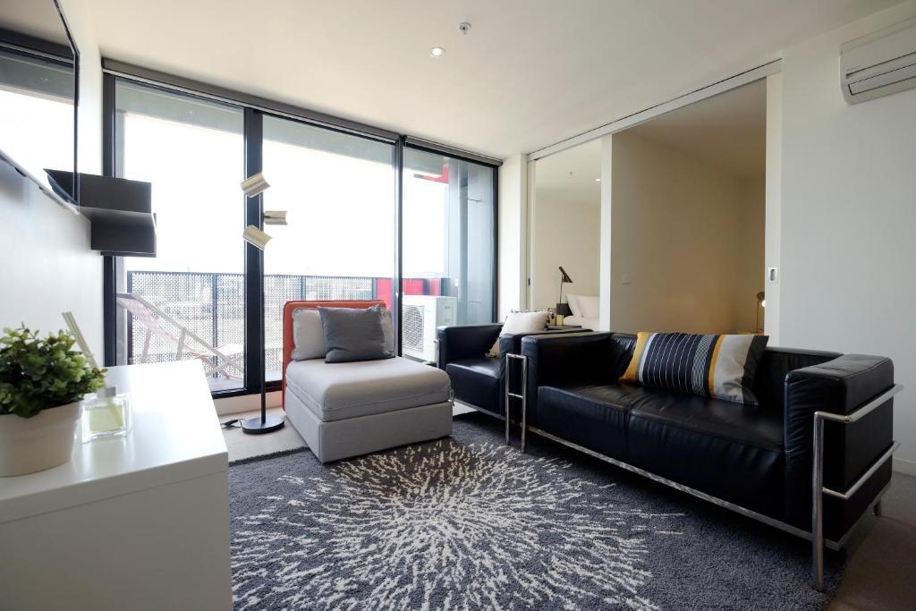 Zona de estar de Mono Apartments on Franklin Street
