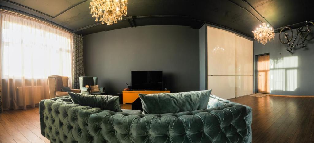 Гостиная зона в GOSH Apartment on Malygina 90