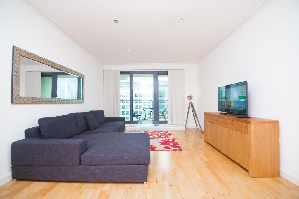 Ein Sitzbereich in der Unterkunft Horizon Canary Wharf Apartments