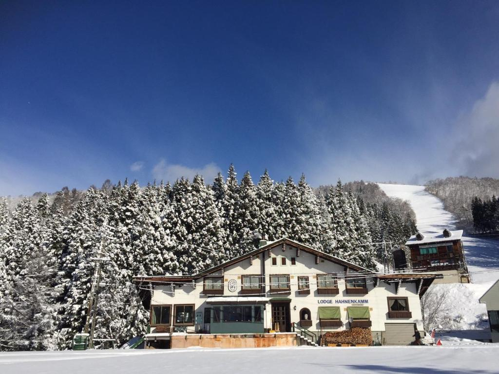 Lodge Hahnenkamm during the winter