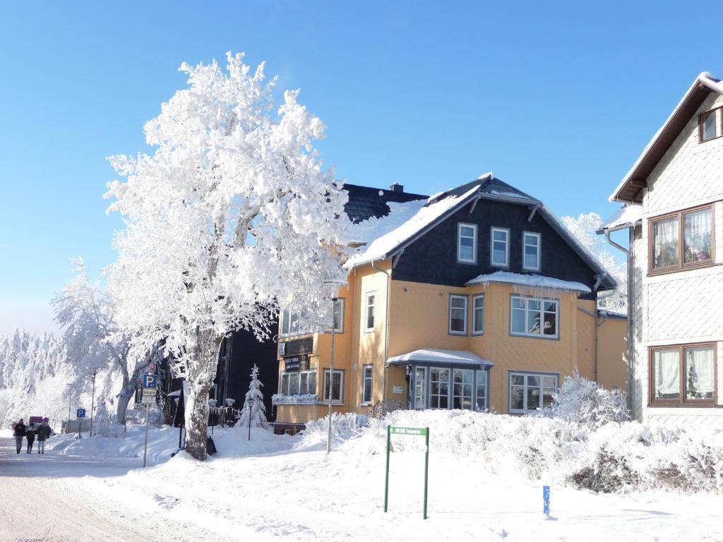 Café-Restaurant Pension Haus Flora im Winter