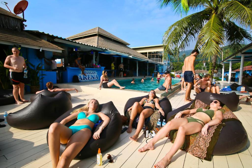 The swimming pool at or near Phangan Arena Hostel