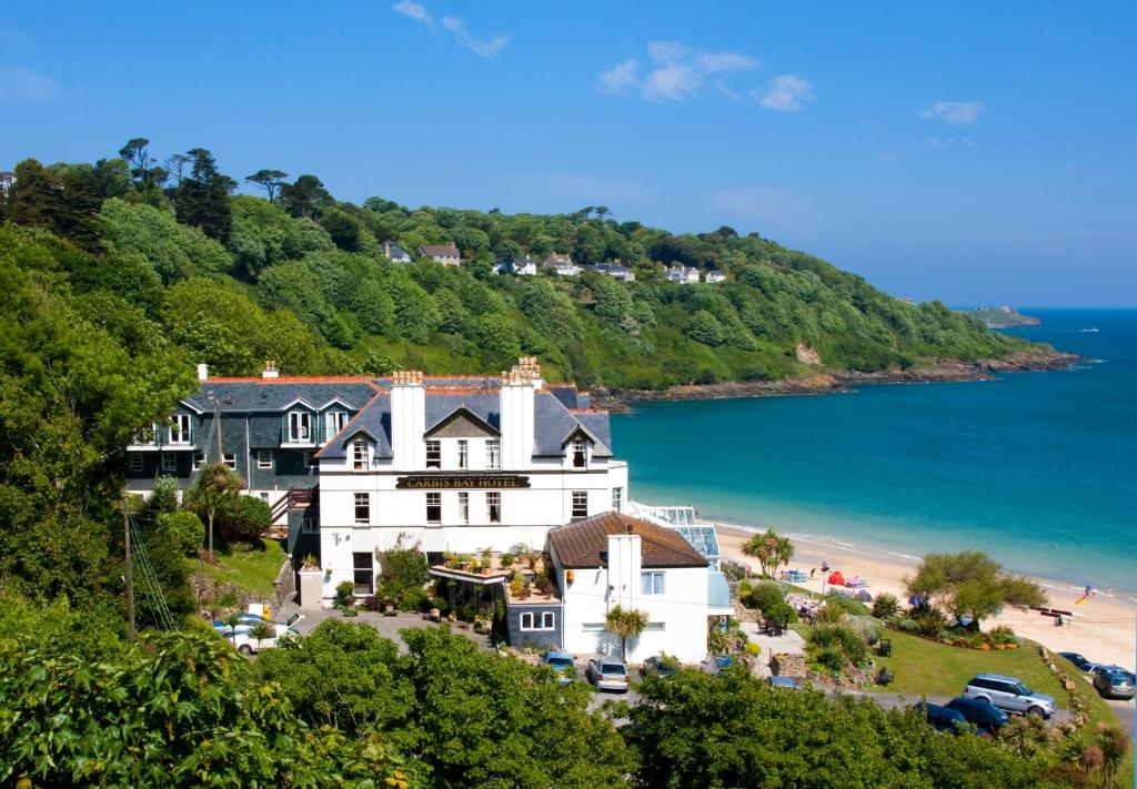 A bird's-eye view of Carbis Bay and Spa Hotel