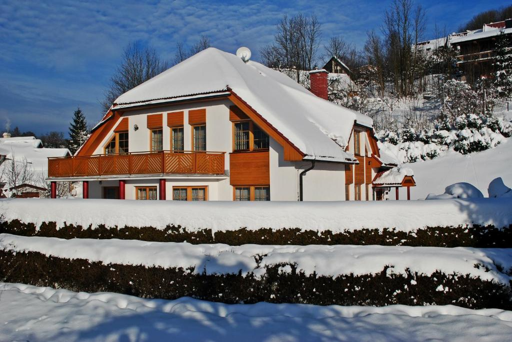 Pension B&B im Winter