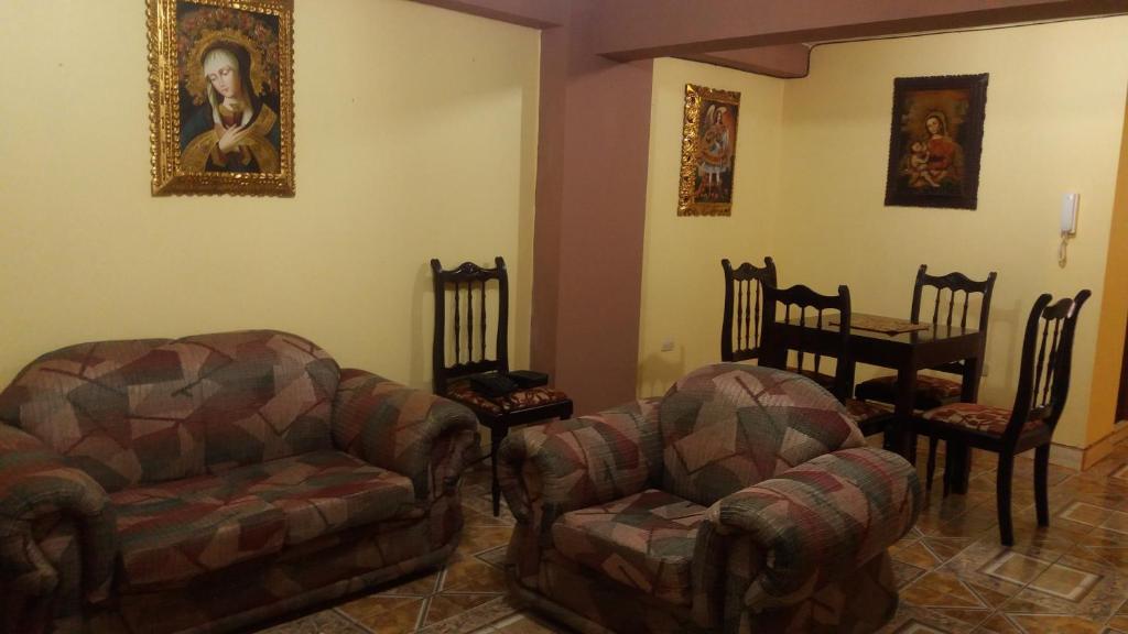 Zona de estar de Apartamento La Esperanza
