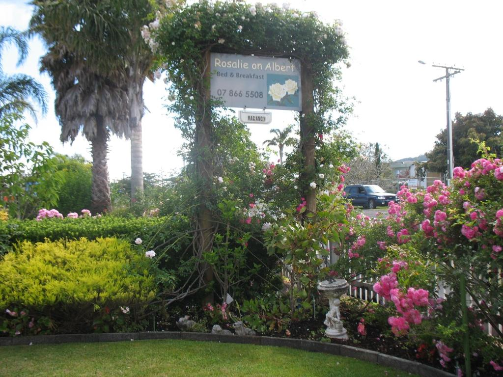 A garden outside Rosalie On Albert B&B
