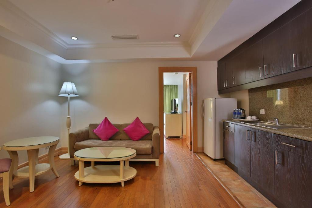 A kitchen or kitchenette at Crown Regency Hotel & Towers
