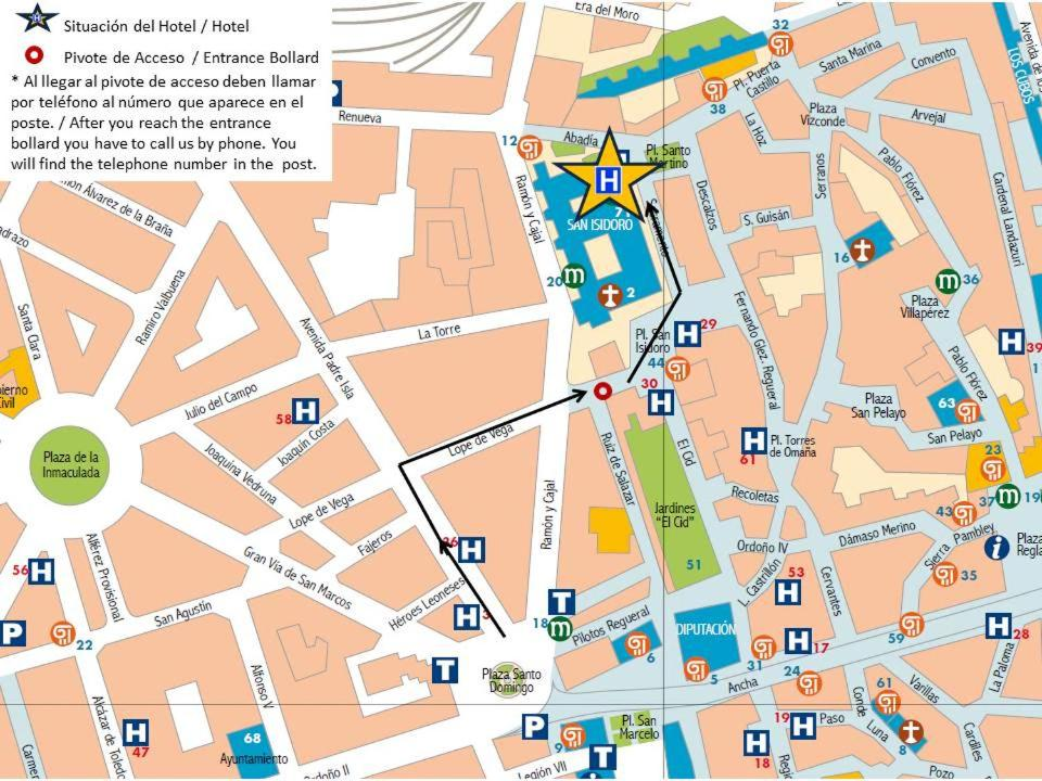 Barrio Humedo Leon Mapa.Hotel Real Colegiata San Isidoro Leon Precios