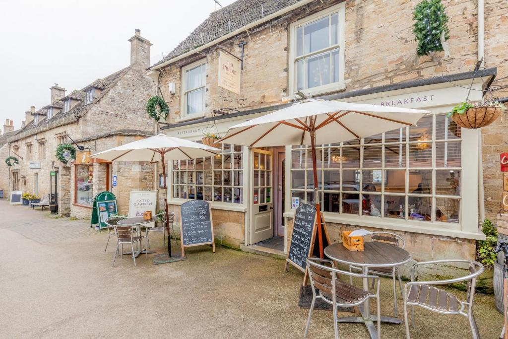 A patio or other outdoor area at Priory Restaurant and B&B