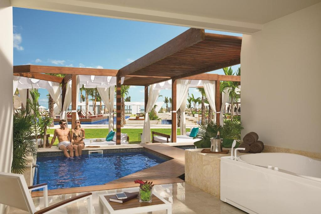 The swimming pool at or close to Now Onyx Punta Cana