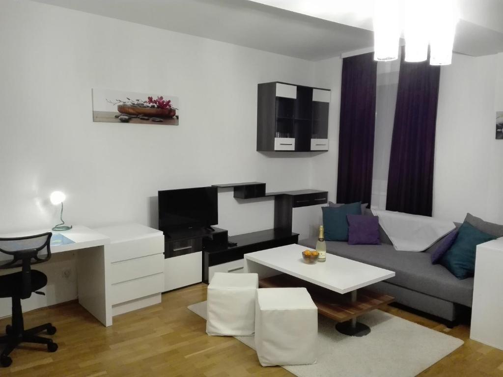 Prostor za sedenje u objektu 1,5 Zimmer-Apartment
