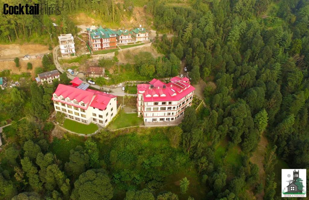 A bird's-eye view of Shimla Havens Resort