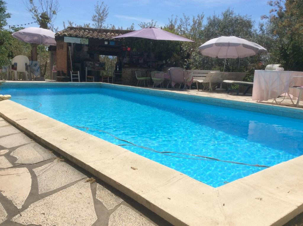 The swimming pool at or near Lou ribas