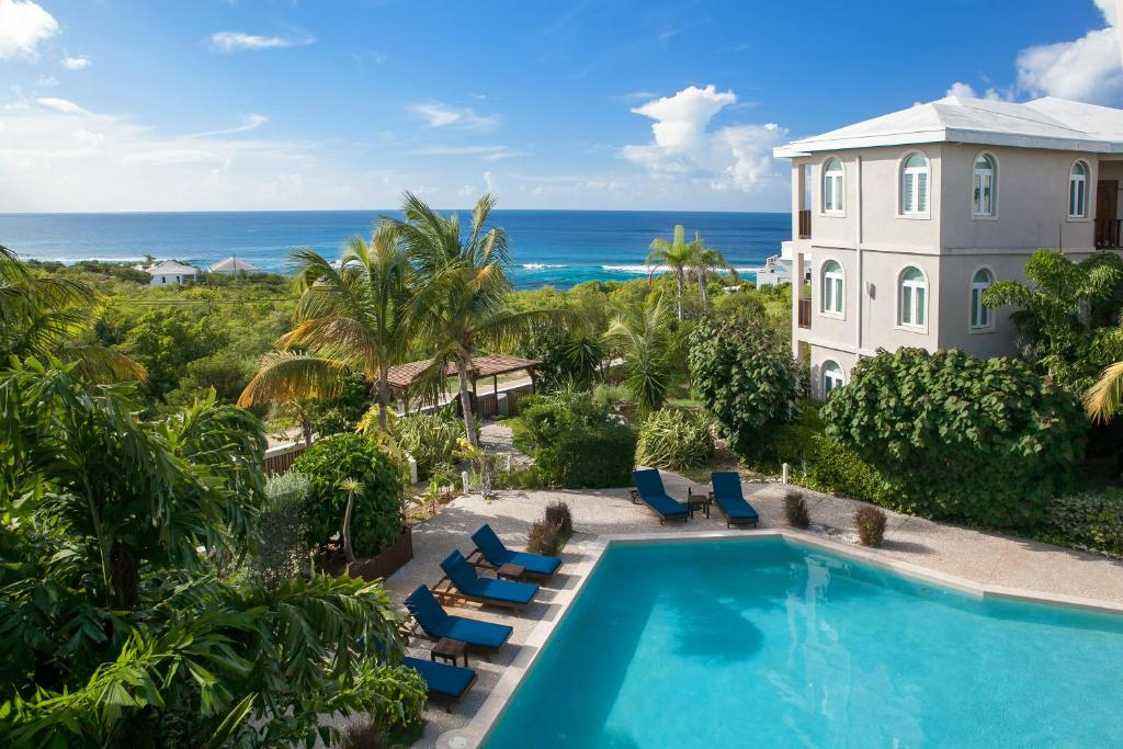 A view of the pool at Fountain Anguilla or nearby