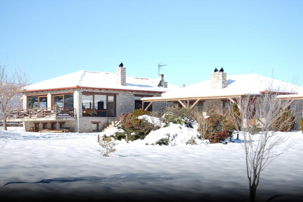 L'établissement Ktima Kletsa en hiver