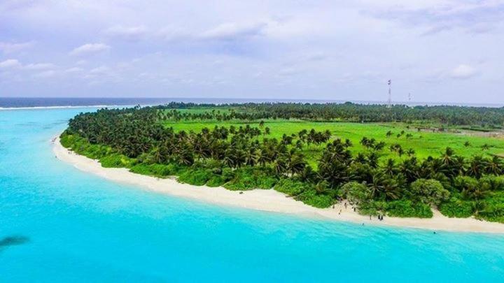 A bird's-eye view of Ari heaven Thoddoo Maldives