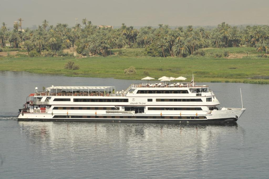 A bird's-eye view of M/Y Alexander The Great Nile Cruise - 4 Nights Every Monday From Luxor - 3 Nights Every Friday from Aswan