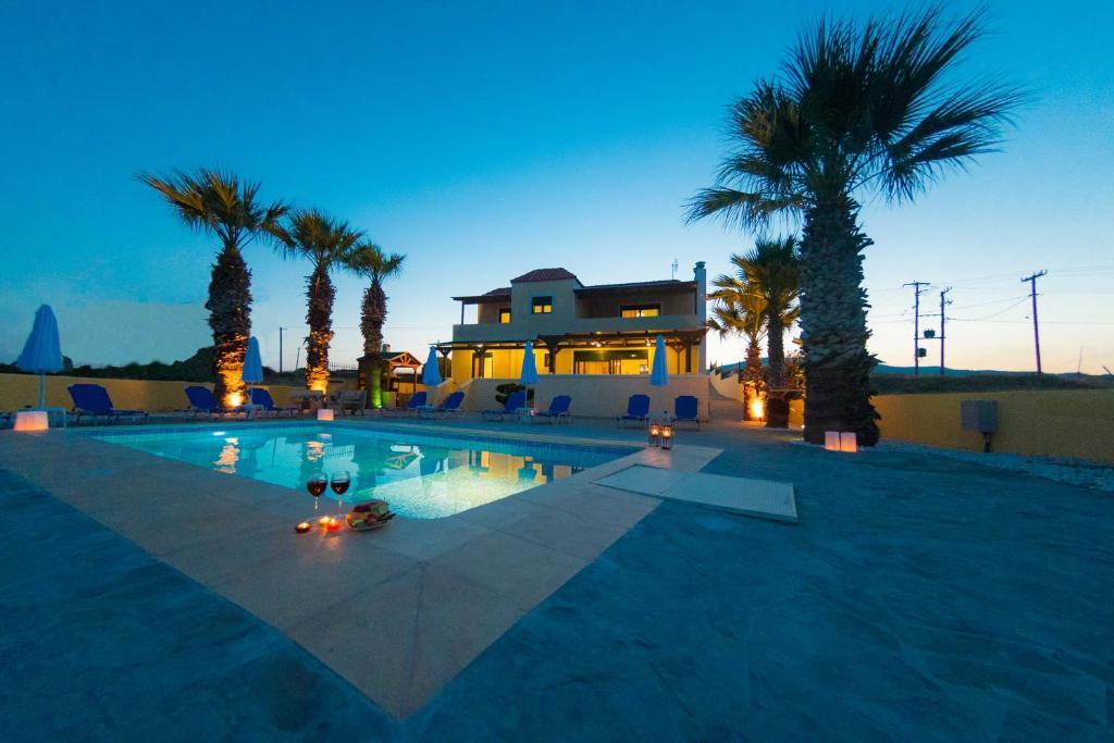 The swimming pool at or near Blue Asteri Villa