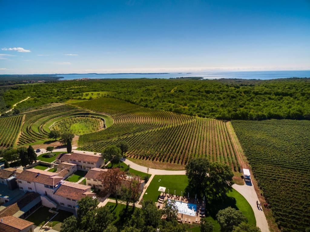 A bird's-eye view of Meneghetti Wine Hotel and Winery - Relais & Chateaux