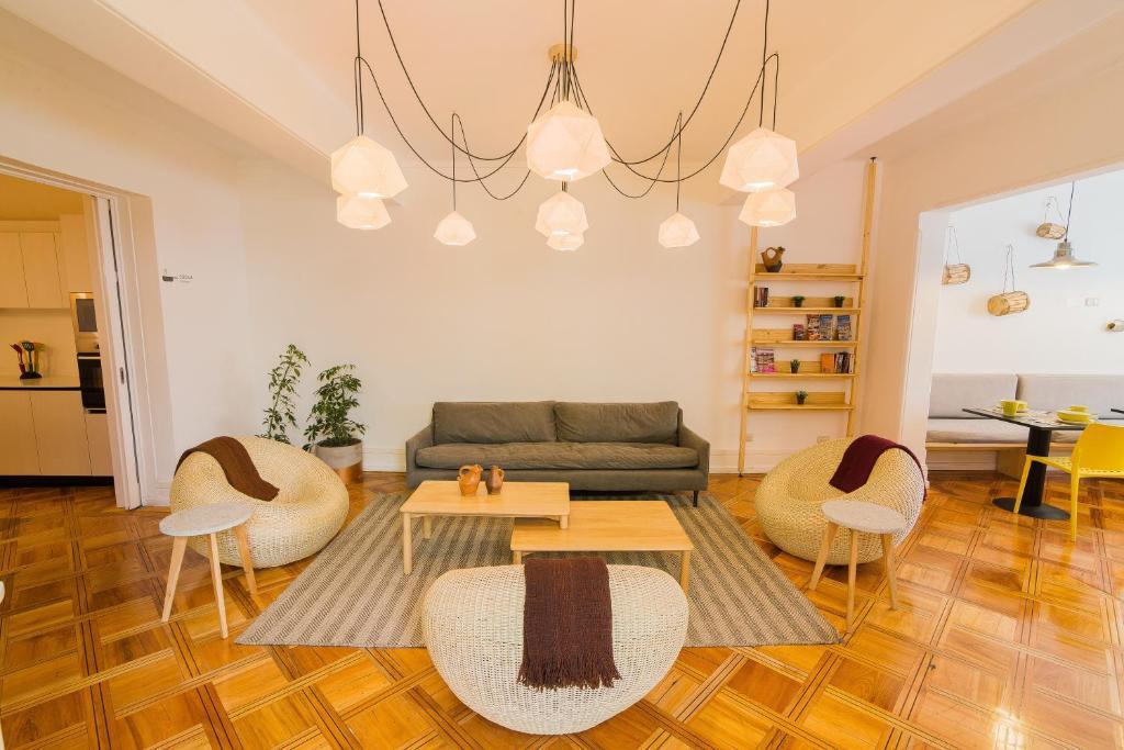Zona de estar de Casa Baquedano