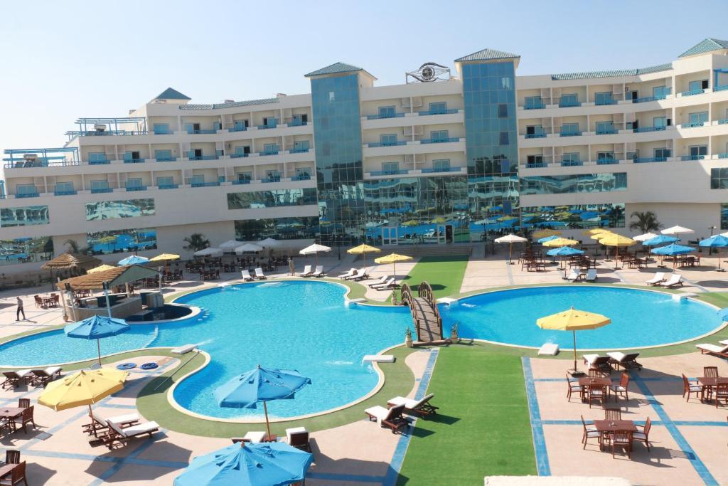 منظر المسبح في فندق زا جارد او بالجوار