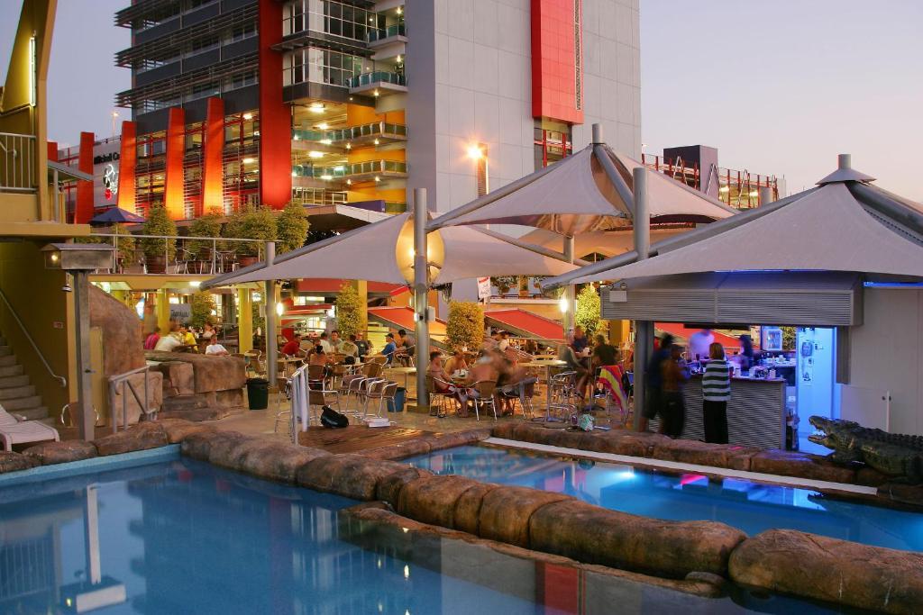 The swimming pool at or near Melaleuca on Mitchell - Darwin YHA