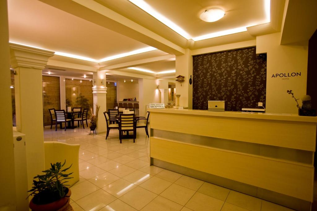 The lobby or reception area at Apollon Hotel