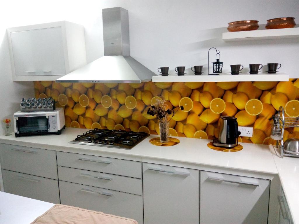 A kitchen or kitchenette at Champs de Mars Luxury Villa