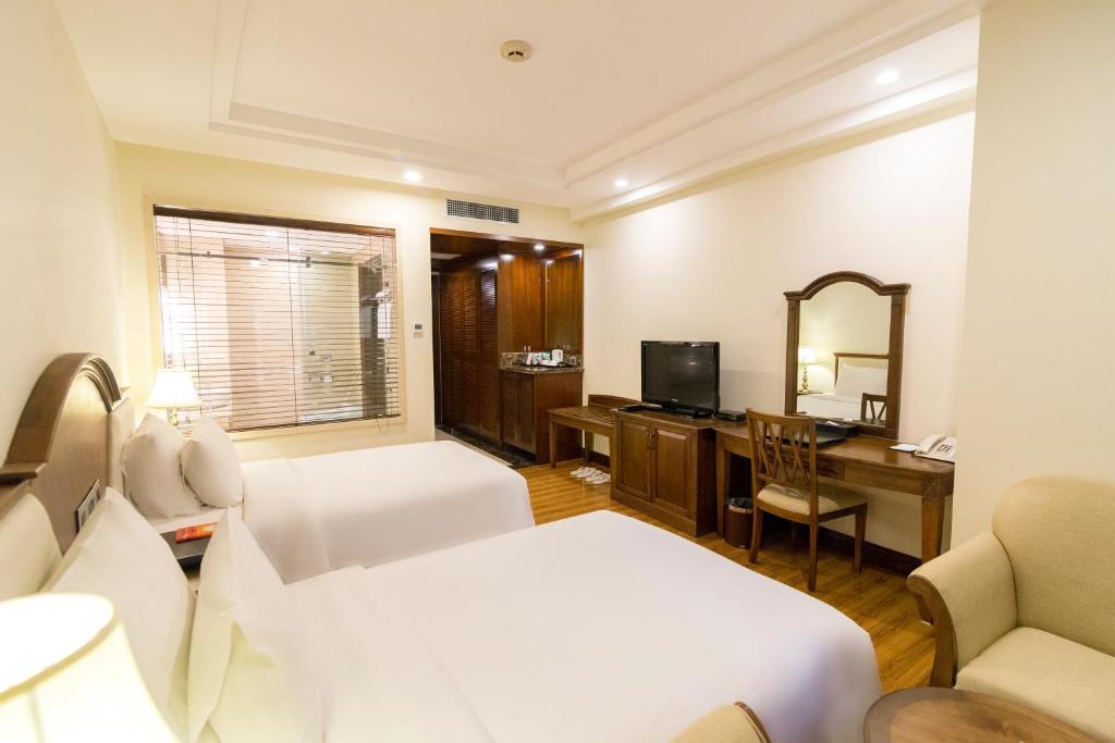 Phòng Superior 2 giường đơn nhìn ra đồi